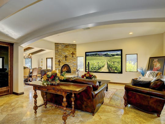 The estate also features a family room with stacked