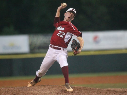 Matt Hulse pitches as Chiles fell 7-3 to Fleming Island