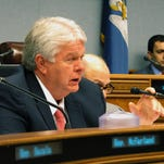 Rep. Steve Pylant, R-Winnsboro, asks questions about next year's budget as the House Appropriations Committee reworked Gov. John Bel Edwards' proposed spending plan, on May 9, in Baton Rouge.