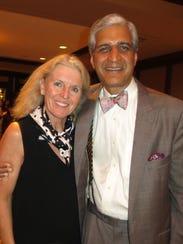 Laura and Dr. Anil Nanda at Neurosurgery Reception.