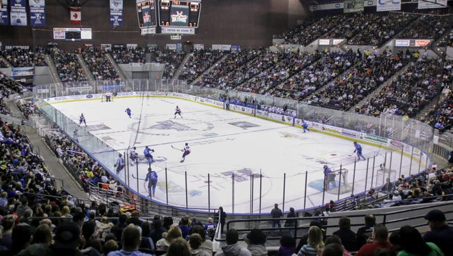 The Pensacola Bay Center was packed all the way around during a $5 ticket night game against Evansville Saturday night.