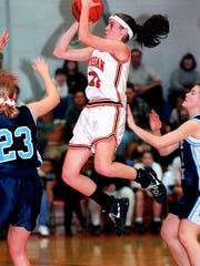 York Suburban's Brooke Davis scored 1,110 points and the 1996 graduate currently ranks fifth on the Trojans' career scoring list. Davis is an assistant basketball coach at York College.