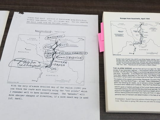 Original letters and other documents relating to the Holocaust are displayed at the Franklin D. Roosevelt Presidential Library and Museum in Hyde Park.