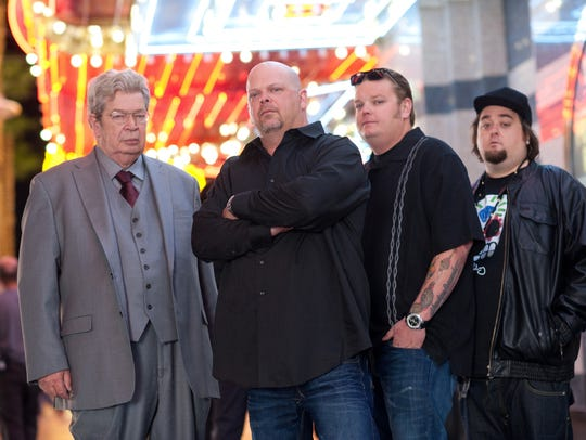 "The cast of ""Pawn Stars"" photographed in 2012. From"