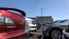 Cars are parked at Procter & Gamble's Mason facility.