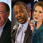 Mike Huckabee, Dr. Ben Carson and Carly Fiorina