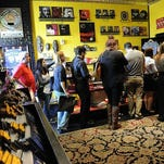 In this file image, fans line up to make purchases at Third Man Records in April 2014 in Nashville.