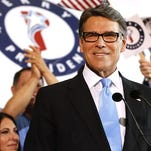 Rick Perry Announces His Run For President Former Texas Gov. Rick Perry smiles after announcing that he will run for president in 2016 June 4, 2015 in Dallas