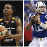 Colts quarterback Andrew Luck wants Tamika Catchings' wish to come true.