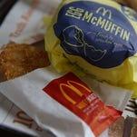 GTY 481668540 A FIN USA CA McDonald's is offering an all-day breakfast menu beginning Oct. 6.