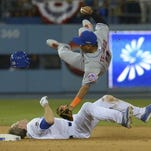 Game 2 in Los Angeles: A look at the takeout slide by Dodgers 2B Chase Utley on Mets SS Ruben Tejada.