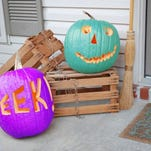 Colored pumpkins this Halloween will raise awareness for disorders primarily affecting children. Teal-colored pumpkins will signal homes that carry non-food treats for kids, and purple pumpkins aim to raise more awareness for epilepsy.