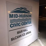 The sign for the Mid-Hudson Civic Center in Poughkeepsie.