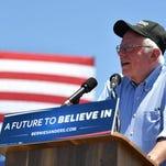 Bernie Sanders campaigns in San Jose on Tuesday.