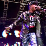 Rapper T.I. performs onstage with Anderson Paak during day 3 of the 2016 Coachella Valley Music And Arts Festival Weekend 1 at the Empire Polo Club April 17, 2016 in Indio, Calif.