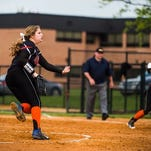 Central York's Rachel Butler was named a first-team all-state pitcher. She was joined on the all-state team by 10 other YAIAA players.