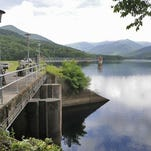 The level of the North Fork Reservoir in Black Mountain, one of Asheville's primary drinking water sources, has declined in recent weeks with the drought. But water usage restrictions are not in place yet.