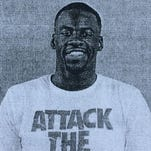 Draymond Green's booking photo after being arrested July 10, 2016.