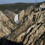 Lower Falls of the Yellowstone National Park, June 2015.