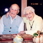 """Joe Auer died Friday at 100; his wife Helen Auer died at 95. """"They wanted nothing and got everything in return,"""" said son, Jerry."""