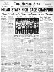 Muncie Central basketball teams have won eight state championships, but the Bearcats' loss to Milan in 1954 has gained national attention for the small school's success over a big-city school.