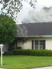 Scene from Brandywine condo fire in south Fort Myers.