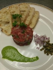 At The Quart House in LaBelle, Wagyu beef tartare is