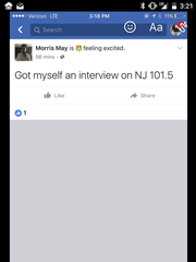 Morris May's Facebook post concerning his radio interview