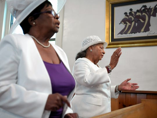 Josephine Reynolds, left, and Lucille Williams have