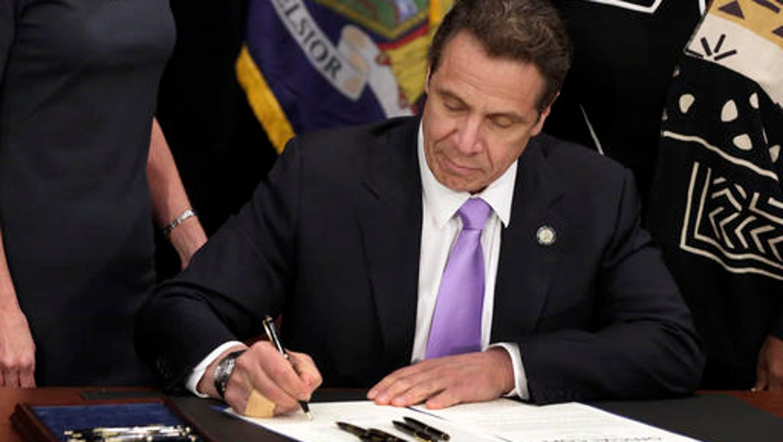 """Cuomo signs ban on """"tampon tax"""""""