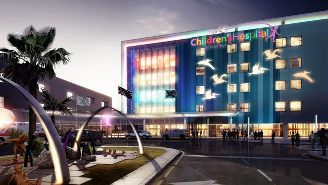 Renderings of The Children's Hospital at Sacred Heart. Construction is expected to begin in 2016.