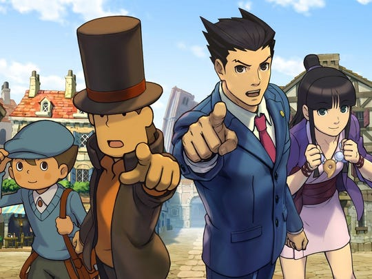 The cast of Professor Layton and Phoenix Wright join forces to solve the mysteries behind the town of Labyrinthia and its witch problem.