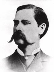 Frontier lawman Wyatt Earp is shown in this 1881 photo
