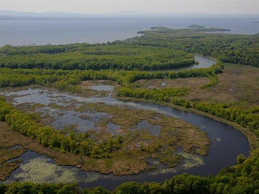 Winooski River into Lake Champlain Burlington, Vermont