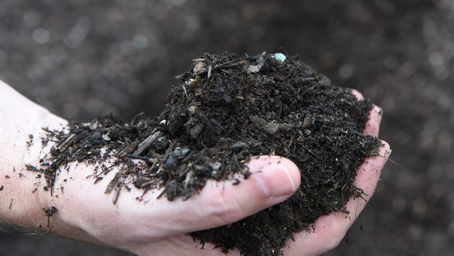 A closeup of some compost at the Ulster County Resource Recovery Agency in the Town of Ulster.