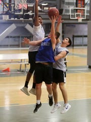 Ardsley basketball players practice for the state finals