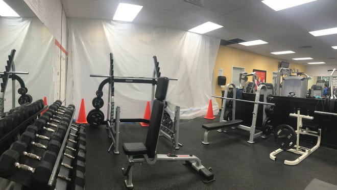 The Eastern Shore Family YMCA in Onley has been undergoing major renovations, which include knocking out a wall to expand the fitness center's weightlifting area.