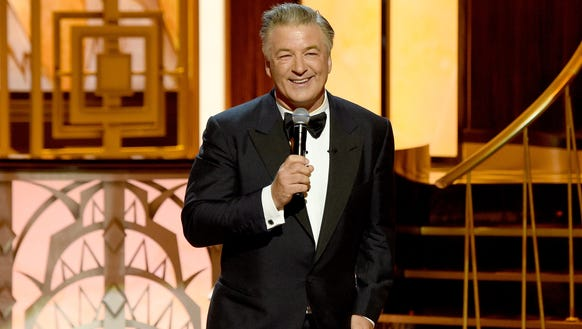 Alec Baldwin speaks onstage during 'One Night Only: