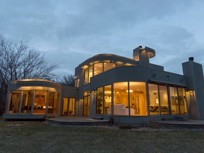 This architectural stunner is called the Halo House