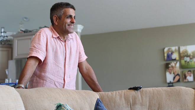Rudy Blanco smiles at his family home in Perry, Fla.   after his release from ICE detention Thursday, Aug. 31, 2017.