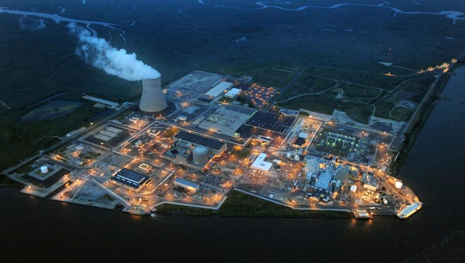 The Salem and Hope Creek Nuclear Generating Stations in Lower Alloways Creek, New Jersey, is shown on Aug. 9, 2012.