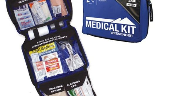 This kit provides a wide variety of first aid supplies
