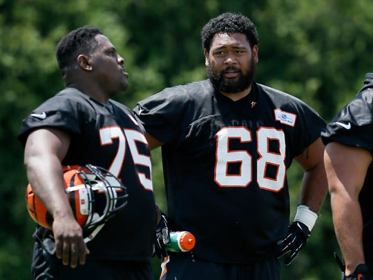 Cincinnati Bengals defensive tackle Josh Tupou (68)