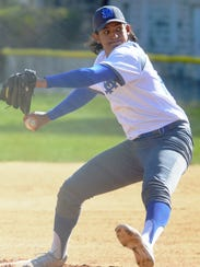 St. Mary junior ace Kenny Quijano pitching against