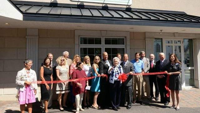 Freeholders Serena DiMaso and John Curley join CPC Behavioral Healthcare Board of Trustees and Keynote Guest Speaker Diane Gooch to cut the ribbon for new Freehold Center, Friday September 12, 2014.