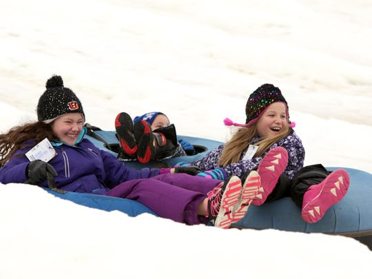 Beach Mountain offers 10 lanes of snow tubing at the Beach Waterpark in Mason.