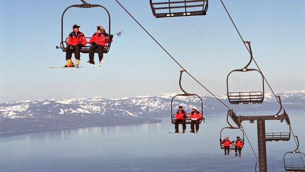 CHAIR-WAY TO HEAVEN: The panoramic Lake Tahoe...