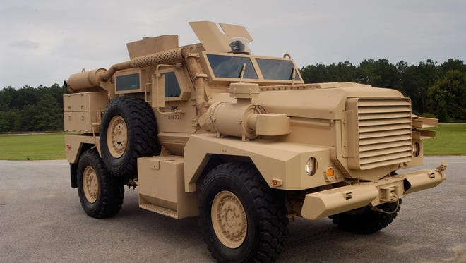 A Cougar 4x4 Medium Mine Protected Vehicle.