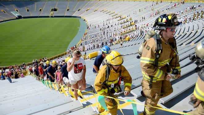 The third annual 9/11 stair climb will be held at Lambeau Field in Green Bay on Sept. 12, 2015