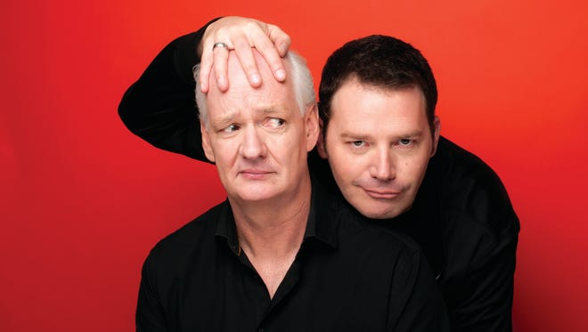 Colin Mochrie and Brad Sherwood will bring their improv act to Purchase Performing Arts Center April 1.